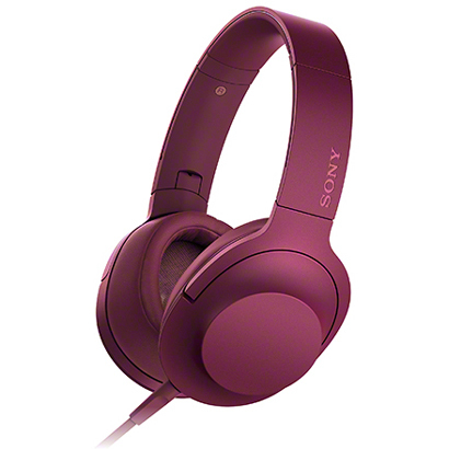 MDR-100A P [ステレオヘッドホン h.ear on ヘッドバンドタイプ ボルドーピンク ハイレゾ音源対応]