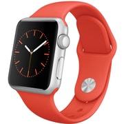 Apple Watch Sport 38mmシルバーアルミニウムケースとオレンジスポーツバンド