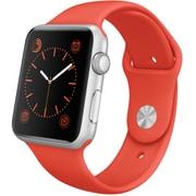 Apple Watch Sport 42mmシルバーアルミニウムケースとオレンジスポーツバンド