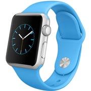 Apple Watch Sport 42mmシルバーアルミニウムケースとブルースポーツバンド