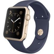 Apple Watch Sport 42mmゴールドアルミニウムケースとミッドナイトブルースポーツバンド