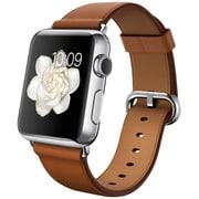 Apple Watch 38mmステンレススチールケースとサドルブラウンクラシックバックル