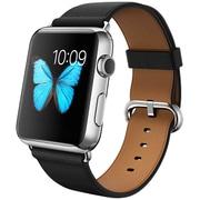 Apple Watch 42mmステンレススチールケースとブラッククラシックバックル