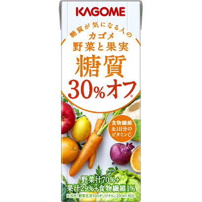 糖質30%オフの野菜と果実 200ml×24 [野菜果汁飲料]