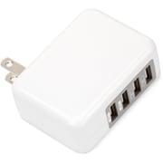 PG-UAC48A01WH [USB電源アダプタ4ポート 4.8A出力 ホワイト]