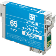 ECI-E65C [エプソン ICC65 互換 リサイクルインクカートリッジ シアン]
