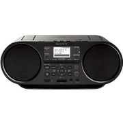 ZS-RS80BT [パーソナルオーディオシステム SD/USB/CD/ラジオ搭載 ワイド対応FM Bluetooth対応 ブラック]