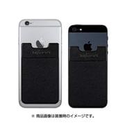 Sinji Pouch Basic 3 ブラック [スマートフォン用 ステッカーブルポケット]