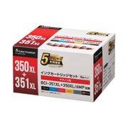 CC-C350351XL6PK [キャノン BCI-351XL+350XL 6MP互換 使い切りタイプ 6色セット]