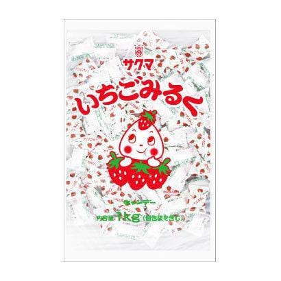 サクマ製菓 いちごみるく(ピロー) 1kg [菓子 1袋]