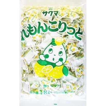 サクマ製菓 れもんこりっと(ピロー) 1kg [菓子 1袋]