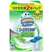 トイレスタンプ 漂白成分プラス ホワイティーウッドの香り つけかえ用 [トイレ用洗剤 38g×2]