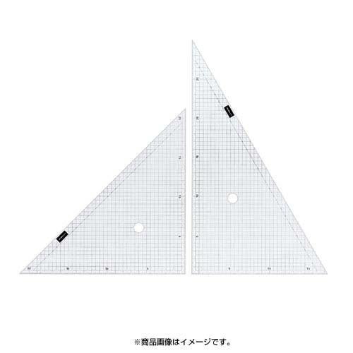 1-809-5001 [方眼三角定規 5mm方眼 30cm型]