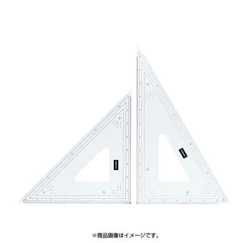 1-809-1024 [縮尺目盛り付き三角定規 24cm型]