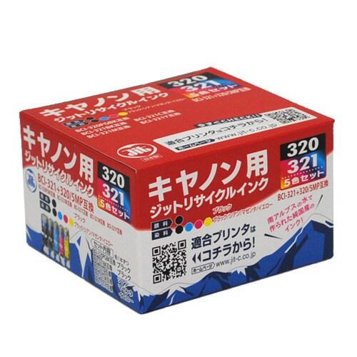 JIT-KC3215P [キヤノン BCI-321+320/5MP互換リサイクルインクカートリッジ]