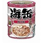 海缶ミニ3P かつお 60g×3缶 [キャットフード ウェットフード 缶]