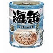 海缶ミニ3P しらす入りかつお 60g×3缶 [キャットフード ウェットフード 缶]