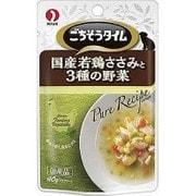 ごちそうタイム ピュアレシピ 国産若鶏ささみと3種の野菜 40g [ドッグフード ウェットフード パウチ]