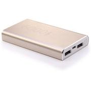 +D6000 GOC [USB2ポート リチウムイオン モバイルバッテリー アルミニウムチタン合金 Gold GOC]