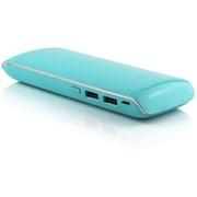 S11000BC [USB2ポート リチウムイオン モバイルバッテリー アルミニウムチタン合金 Blue]