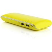 S11000BL [USB2ポート リチウムイオン モバイルバッテリー アルミニウムチタン合金 Yellow]