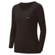 スーパーメリノウール L.W. ラウンドネックシャツ Women's 1107573 ブラック Lサイズ [アウトドア アンダーウェア レディース]