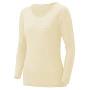 1107573 [スーパーメリノウール L.W. ラウンドネックシャツ Women's L アイボリー(IV)]