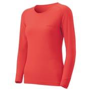 1107574 [スーパーメリノウール M.W. ラウンドネックシャツ Women's L コーラルピンク(COPK)]