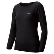 1107582 [スーパーメリノウールEXP. ラウンドネックシャツ Women's L ブラック(BK)]