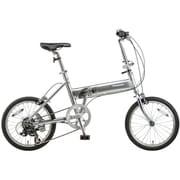 B-TW873S [ライトウイング 折り畳み自転車 18型 外装7段変速 シルバー×シルバー]