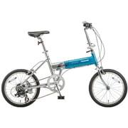 B-TW873V [ライトウイング 折り畳み自転車 18型 外装7段変速 ファインターコイズ×シルバー]