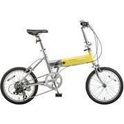 B-TW873Y [ライトウイング 折り畳み自転車 18型 外装7段変速 イエロー×シルバー]
