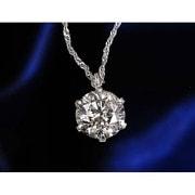 ジュンPt0.8ctダイヤモンドペンダント [ネックレス]