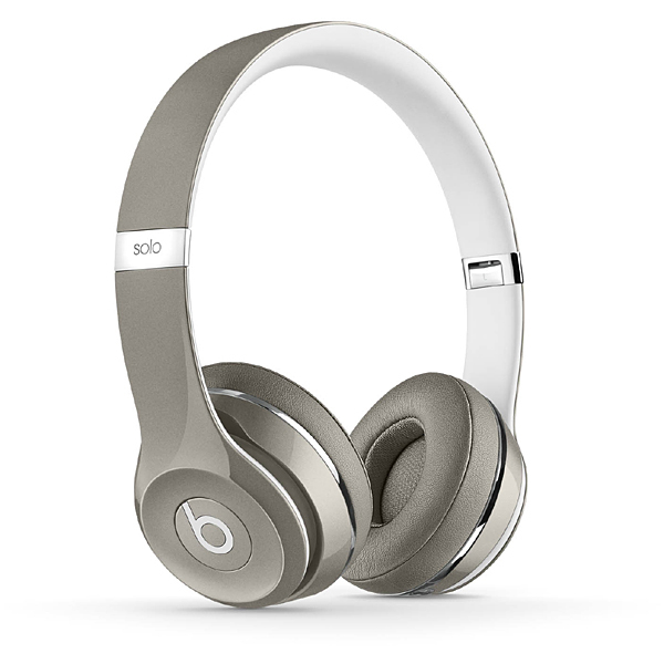 Beats by Dr. Dre Solo2 オンイヤーヘッドフォン(Luxe Edition)- シルバー [MLA42PA/A]