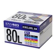 PP-EIC80L-6P [エプソンIC6CL80L 互換インク 6色]