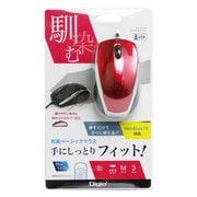 MUS-UKT115R [有線3ボタン Blue Ledマウス レッド]