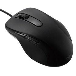MUS-UKF108BK [有線静音5ボタン Blue Ledマウス ブラック]