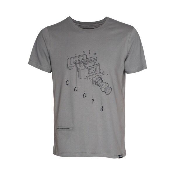 t-Shirt COOCAM Mud XL [レンズキャップポケット付き Tシャツ サイズXL マッド]