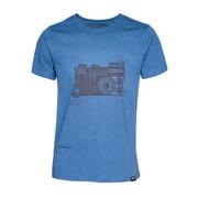 t-Shirt ROCKTOGRAPHER Royal blue L [レンズキャップポケット付き Tシャツ サイズL ブルー]