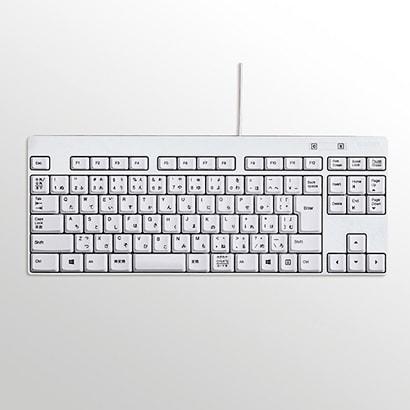 TK-FCM084WH [コンパクト有線キーボード メンブレン式 USB接続 ショートサイズ ホワイト]