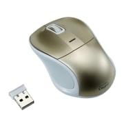 MUS-RKT109GL [無線静音 3ボタン Blue LEDマウス ゴールド]