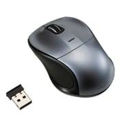 MUS-RKT109GY [無線静音 3ボタン Blue LEDマウス グレー]