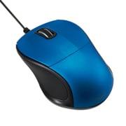 MUS-UKT110BL [有線静音 3ボタン Blue LEDマウス ブルー]