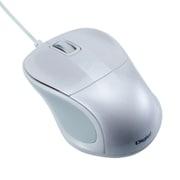 MUS-UKT110W [有線静音 3ボタン Blue LEDマウス ホワイト]