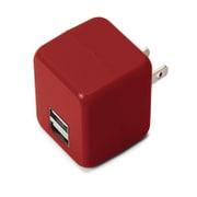 PG-UAC21A08RD [USB電源アダプタ 2ポート 2.1A キューブタイプ レッド]