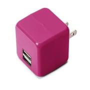 PG-UAC21A09PK [USB電源アダプタ 2ポート 2.1A キューブタイプ ピンク]