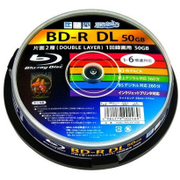 BD-R DL 6倍速 ホワイトプリンタブル スピンドル 10枚組