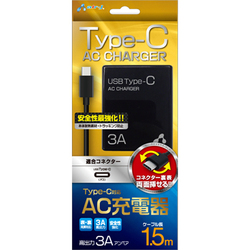 AKJ-CT3 BK [Type-C AC充電器 ブラック]