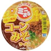 ミニまるコーン味噌辣麺バター 49g [即席カップ麺]