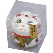 お茶 招き猫缶 白 [招き猫缶 白]